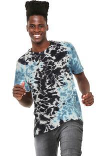 Camiseta Mcd Tie Dye Cinza/Azul