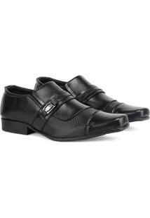 Sapato Social Sapatofran Tricê Sintético Masculino - Masculino-Preto