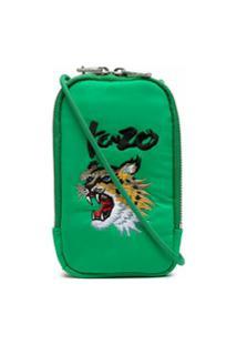 Kenzo Bolsa Transversal Com Bordado De Tigre - Verde