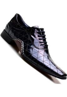 Sapato Social Masculino Calvest De Amarrar - Masculino-Preto