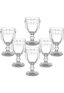 Conjunto De Taças Para Água Libélula Transparente 6 Pçs - Tricae