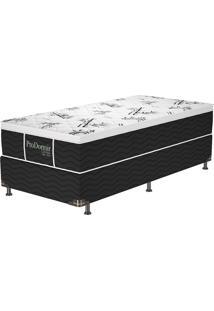 Cama Box Solteiro Vegas Black – Probe - Preto / Branco