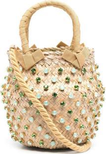 Le Nine Nina Crystal-Embellished Shoulder Bag - Neutro
