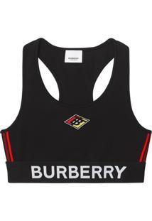 Burberry Sutiã Preto Com Logo