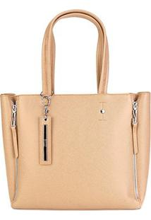 Bolsa Santa Lolla Shopping Bag Feminina - Feminino-Areia