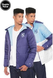 Jaqueta Puffer New Era New York Yankees Dupla Face Azul/Azul-Marinho