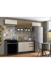 Cozinha Compacta 4 Peças Alice Espresso Móveis Duna/Cristal