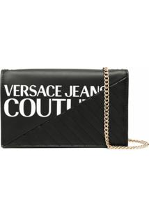 Versace Jeans Couture Logo-Print Crossbody Bag - Preto
