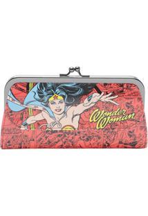 Carteira Warner Bross® Wonder Woman®- Vermelho Escuro & Urban