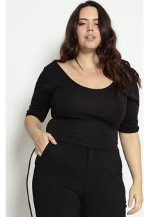 Blusa Lisa Com Amarraçãopretahering