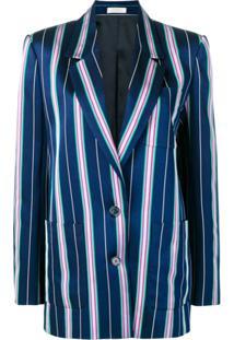 Nina Ricci Striped Blazer - Azul