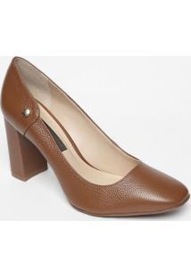 Sapato Tradicional Em Couro- Marrom- Salto: 9Cmjorge Bischoff