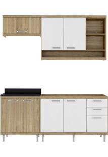 Cozinha Compacta Multimóveis Sicília 5810.132.131.610 Argila Branco Se
