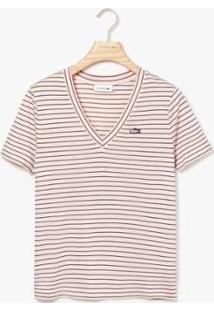 Camiseta Lacoste Feminina - Feminino-Rosa+Azul