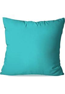 Capa De Almofada Decorativa Azul 35X35Cm