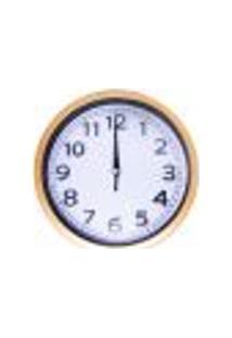 Relógio De Parede 20X20Cm Silencioso Fundo Branco