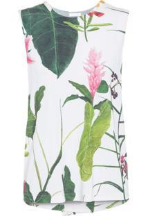 Regata Sleeveless Floral Osklen – Off White