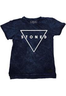 Camiseta Longline Stoned Estonada Triangle Masculina - Masculino