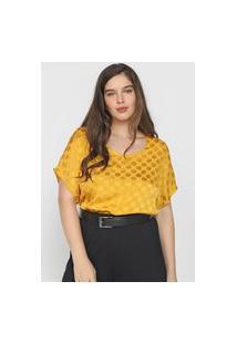 Blusa Calvin Klein Metalizada Amarela