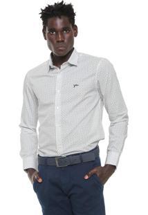 Camisa Yachtsman Reta Estampada Off-White