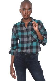 Camisa Ellus Plaid Raw Edge Verde