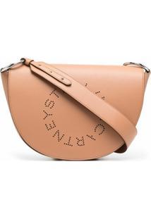Stella Mccartney Bolsa Tiracolo Marlee Com Logo - Marrom
