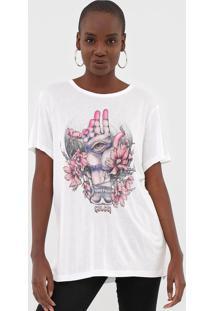 Camiseta Colcci Estampada Off-White - Off White - Feminino - Viscose - Dafiti