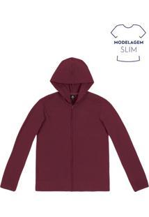 Jaqueta Masculina Básica Com Malha Texturizada E Modelagem Comfort