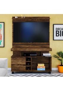 Rack Com Painel Para Tv Delta Até 42'' Canela Rústico - Colibri Móveis