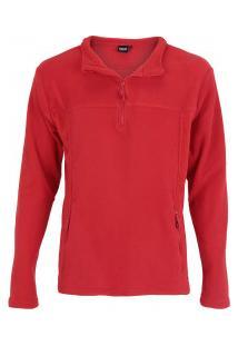 Blusa Fleece Nord Outdoor Basic - Masculina - Vermelho