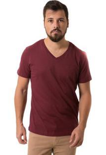 Camiseta Osmoze Diferenciada Gola V - Masculino-Vermelho