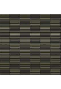 Papel De Parede Estilo Tradicional Texturizado Bege E Preto 0,53X10M