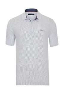 Polo Pierre Cardin Full Print White Details - Masculino