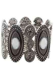Bracelete Pedra Branca - Prata