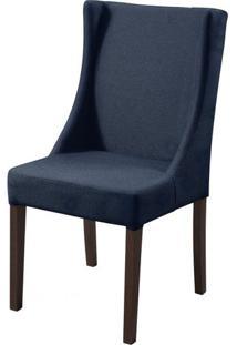 Cadeira Tata Azul Marinho Base Tabaco - 50460 - Sun House