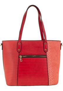 Bolsa Feminina Arara Dourada - T289 Vermelho