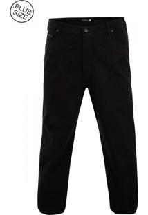 Calça De Sarja Plus Size Black