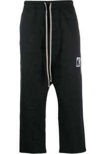 Rick Owens Drkshdw Drawstring Cropped Trousers - Preto