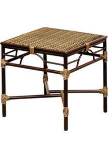 Mesa De Centro Quadrada Bambu Iii Marrom