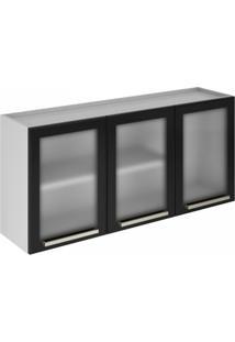 Cozinha Compacta 3 Peças Sem Balcão Dandara Itatiaia Branco/Preto