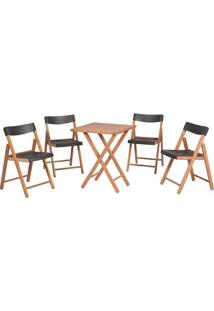 Jogo De Mesa Com Cadeiras Potenza- Natural & Grafitetramontina