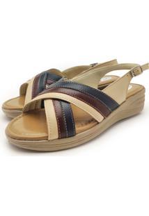 Sandalia Ortopedica Couro Dia A Dia Iac Calçados - Kanui