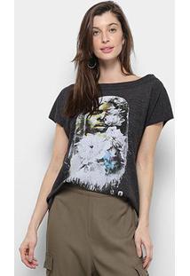 Camiseta Triton Respingo Manga Curta Feminina - Feminino-Estampado