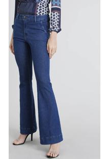 79468f603 R$ 89,99. CEA Calça Jeans Feminina Flare Azul Médio