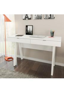 Mesa Para Escritório Tecno Mobili Me4128 2 Gavetas Branco