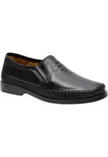 Sapato Casual Couro Galway Masculino - Masculino-Preto