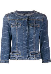 Liu Jo Jaqueta Jeans Com Aplicações - Azul