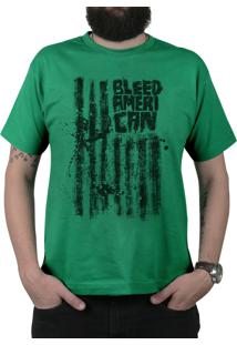 Camiseta Bleed American Dark Flag Bandeira