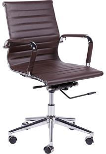 Cadeira Para Escritório Baixa 3301-Or Design - Café