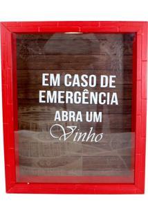 Quadro Zona Criativa Coleção Emergência Tome Vinho Vermelho